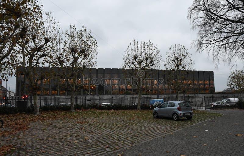 Copenhaga/Dinamarca 13 Em novembro de 2018 Banco Nacional do ` s de Dinamarca na capital dinamarquesa Copenhaga Dinamarca foto Fr fotos de stock royalty free