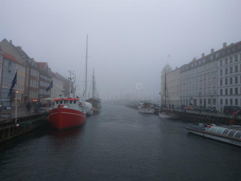 Copenhaga Europa colore a surpresa do inverno fotografia de stock