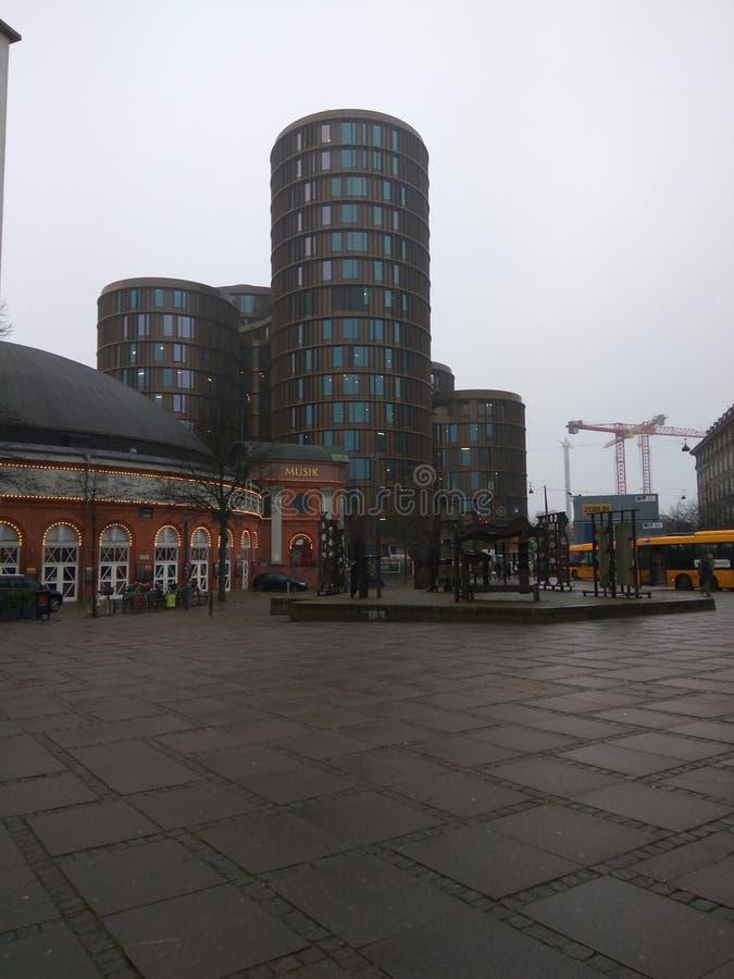Copenhaga Europa colore a surpresa do inverno foto de stock royalty free