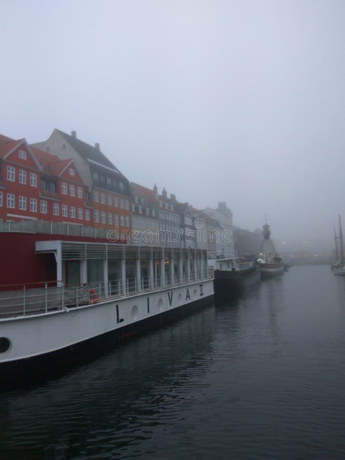 Copenhaga Europa colore a surpresa do inverno foto de stock