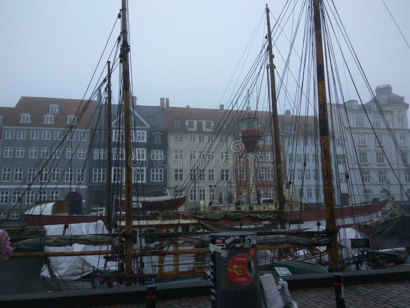 Copenhaga Europa colore a surpresa do inverno imagem de stock royalty free