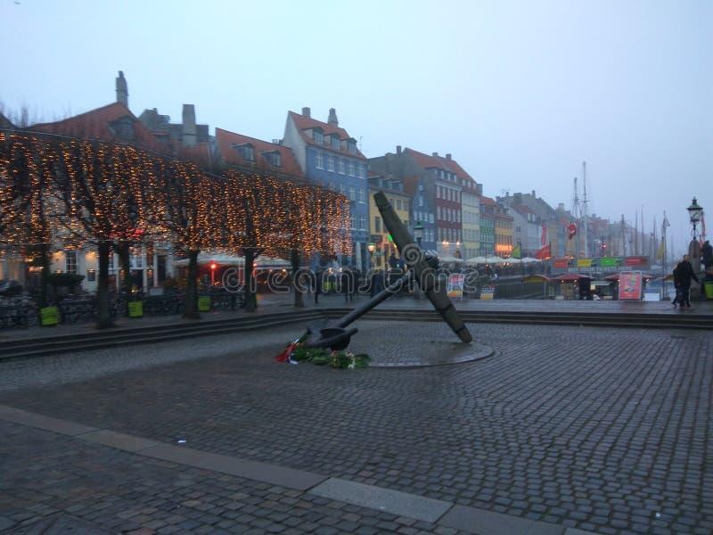 Copenhaga Europa colore a surpresa do inverno fotos de stock