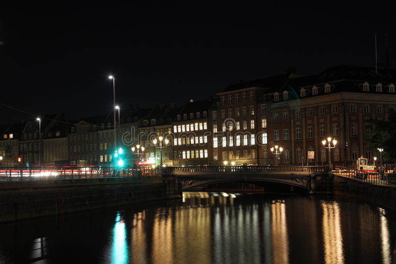 Download Copenhagen stock photo. Image of sightseeing, road, night - 19402646