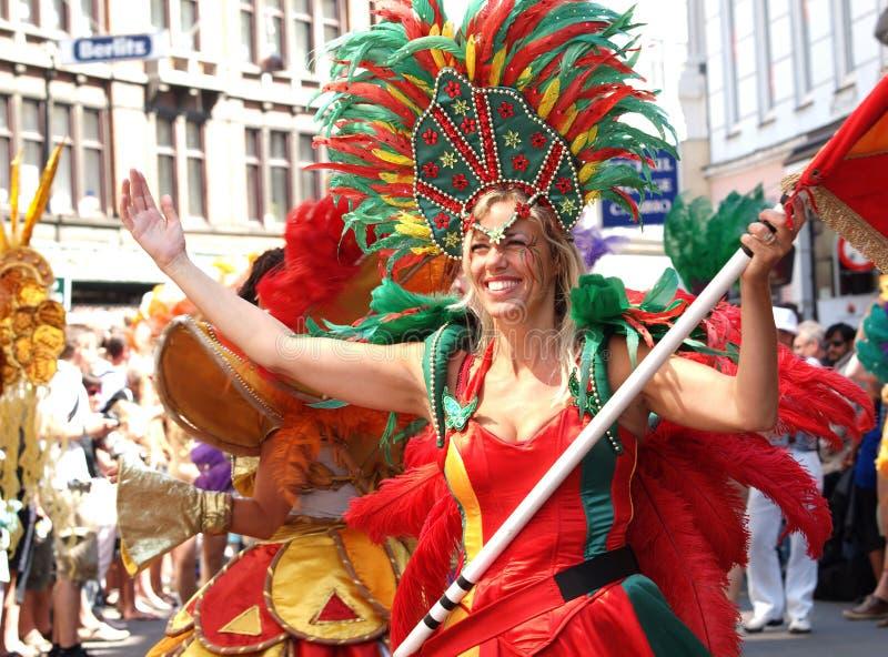 Copenhagen 2011 karnawałowych parad zdjęcia royalty free