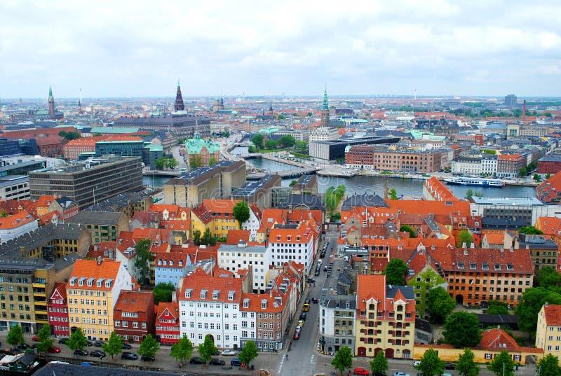 Copenhagen aerial. A view of Copenhagen, Denmark stock images
