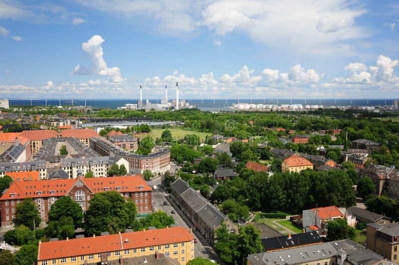 Copenhagen city stock photo