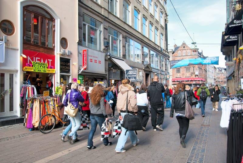 copenhagen Dani Centrum miasta widok zdjęcia royalty free