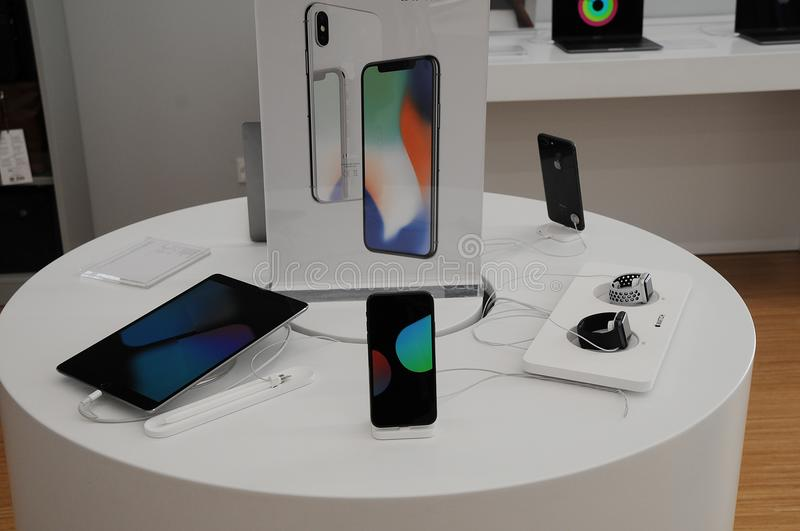 Apple products allpe IphoneX royalty free stock photo