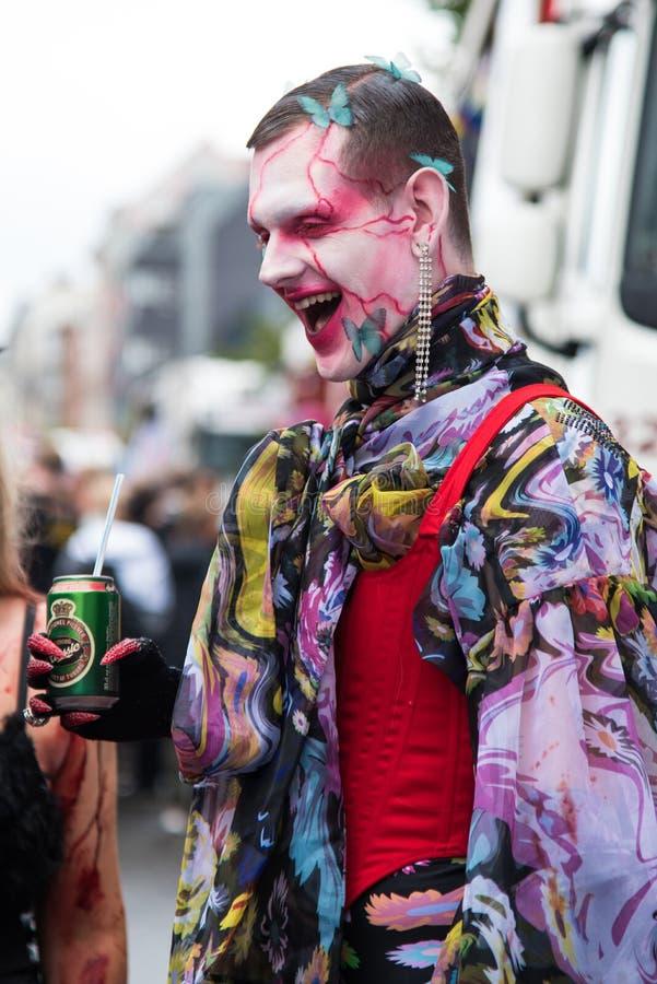 Copenhagen, Denmark - 17 August, 2019: participants of Copenhagen Pride – one of the largest annual human rights festival stock photos