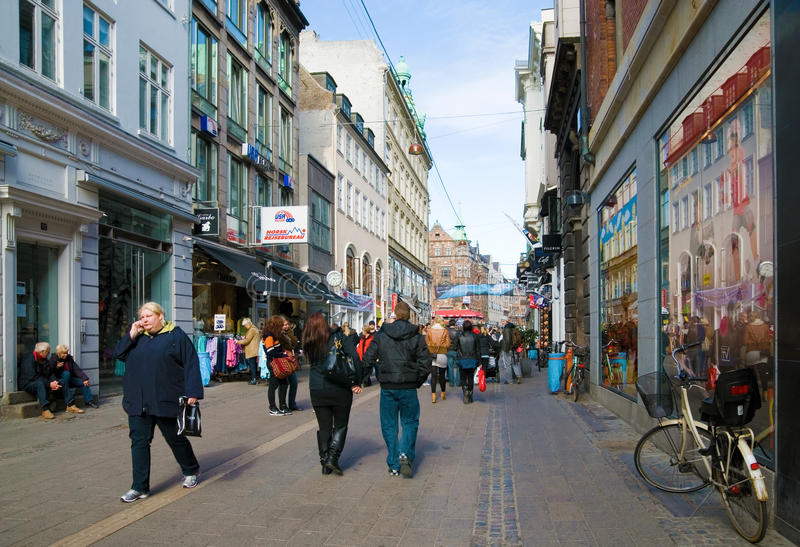 copenhagen Denmark dostaje str obraz royalty free