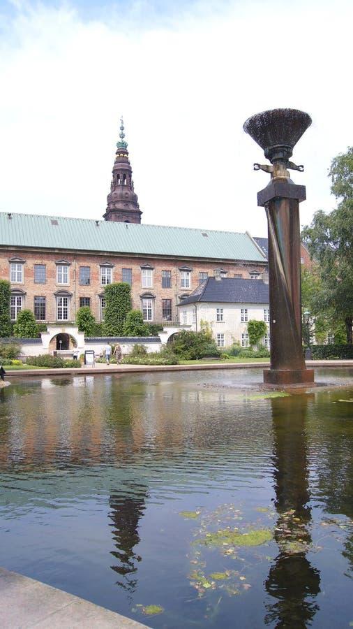 COPENHAGEN, DENMARK - JUL 04th, 2015: Royal Library Gardens, Christiansborg Palace in Copenhagen, small oasis in the stock photo