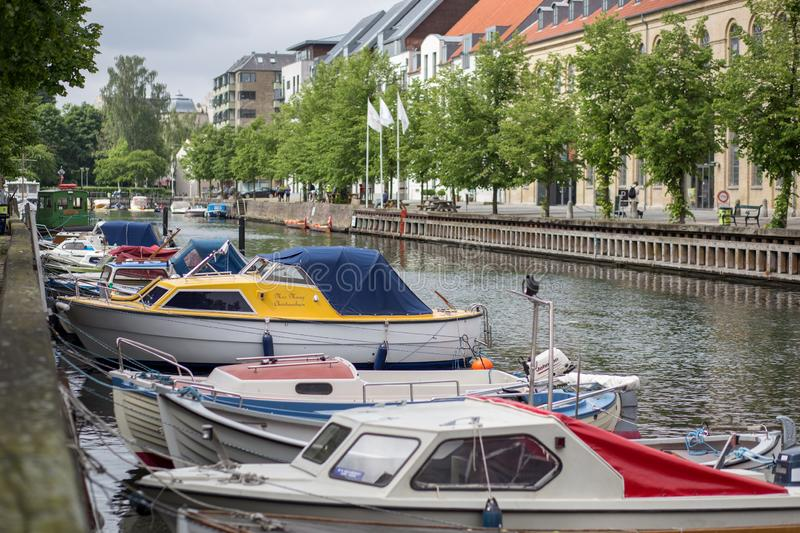Christianshavn neighborhood in Copenhagen, Denmark royalty free stock photography