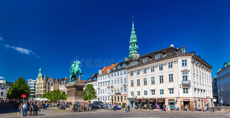 COPENHAGEN, DENMARK - MAY 29: View of Hojbro Plads square on May stock image