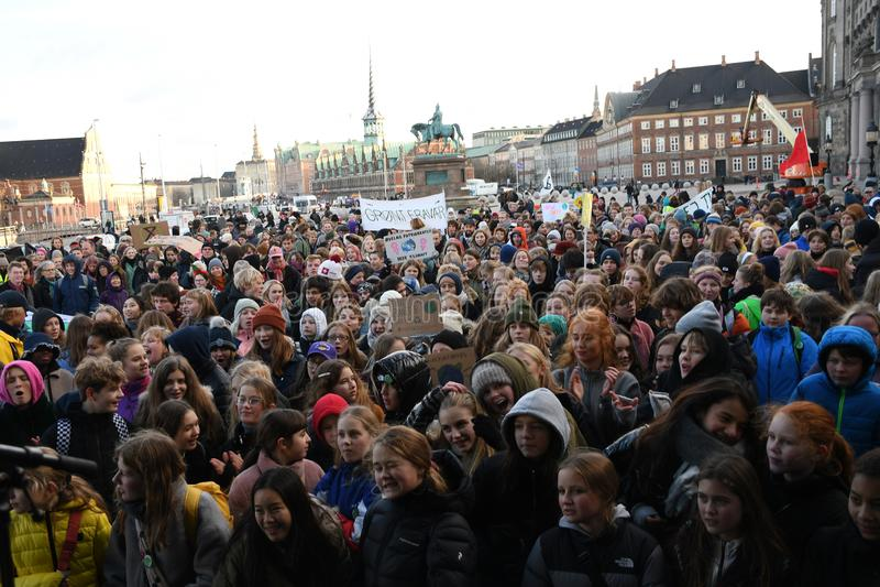 CLIMATE PROTEST MARCH IN COPENHAGEN DENMARK royalty free stock photos