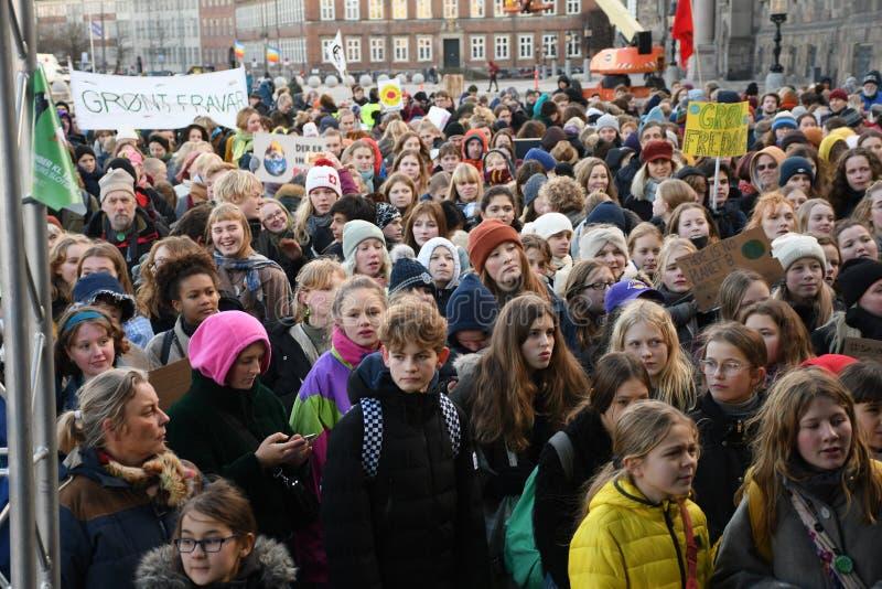 CLIMATE PROTEST MARCH IN COPENHAGEN DENMARK stock photo