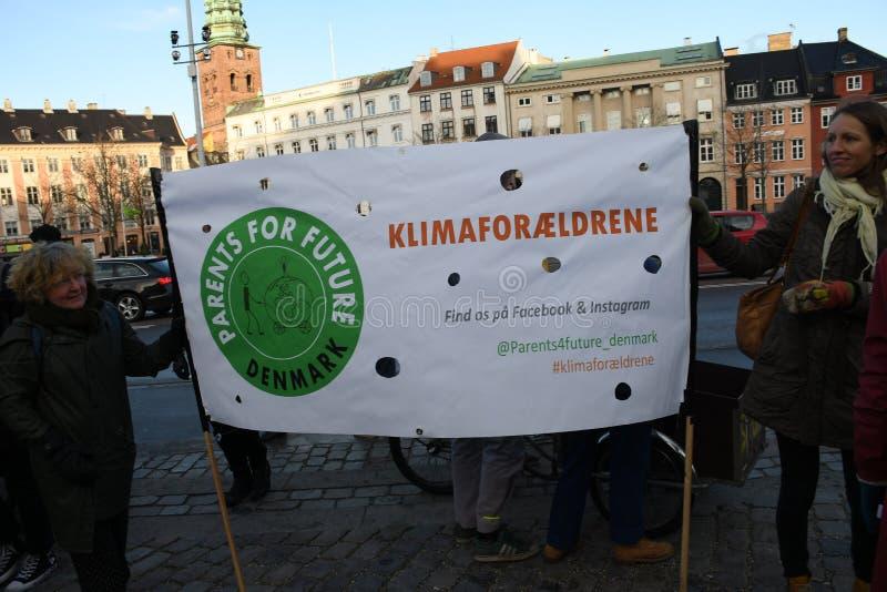 CLIMATE PROTEST MARCH IN COPENHAGEN DENMARK stock image