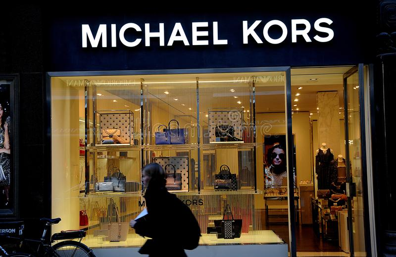 c7bf0d7b1a58f1 Michael kors shopping bags editorial stock photo. Image of economy ...