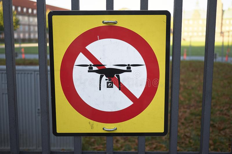 No Drone sign royalty free stock image