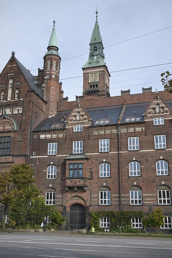 View of Copenhagen city hall stock images