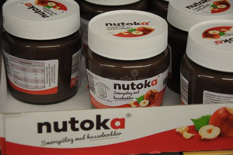 NUTOKA FOOD. Copenhagen/Denmark 03.September 2018. Nutoka food on sale i German grocery chain aldi. Photo.Francis Joseph Dean / Deanpictures stock photo