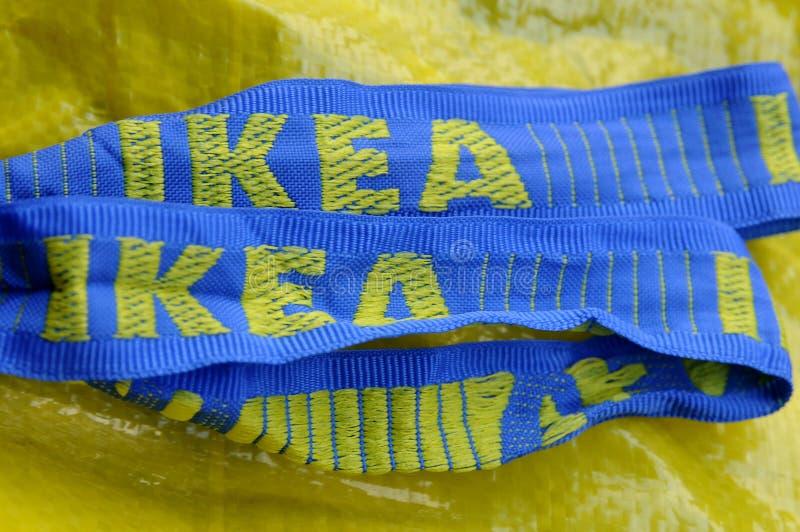 SWEDISH IKEA. Copenhagen /Denmark - 29..September. 2017. Swedish Ikea shopping bag Photo.Francis Dean/Dean Pictures stock image