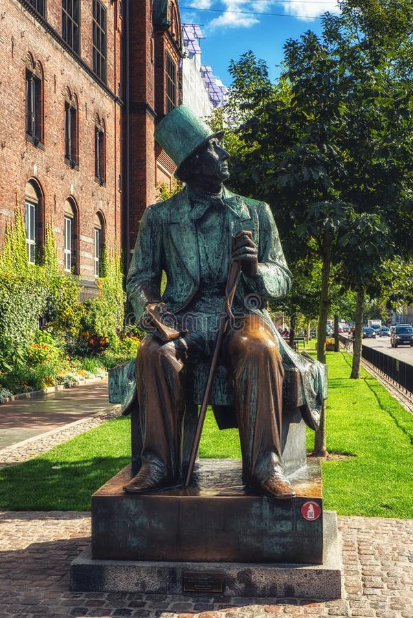 Statue of the famous Danish author Hans Christian Andersen stock photography