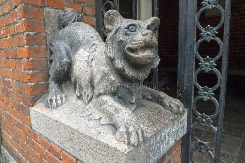 Copenhagen, Denmark, 2014, Stone Animal Statue stock photography