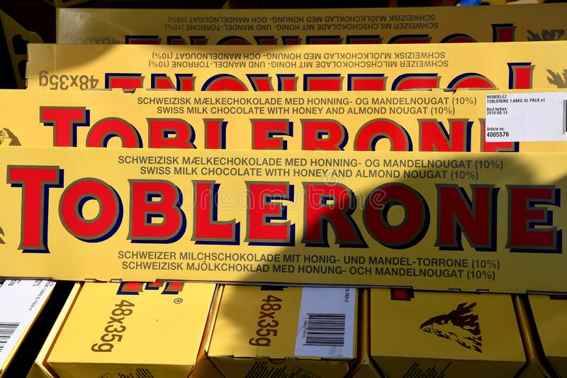 TORERONE CHCOLATE BARS. Copenhagen/Denmark 8th.September 2018. Toblerone choclate bars dansh capital Copenhagen, Denmark. Photo.Francis Joseph Dean / stock image