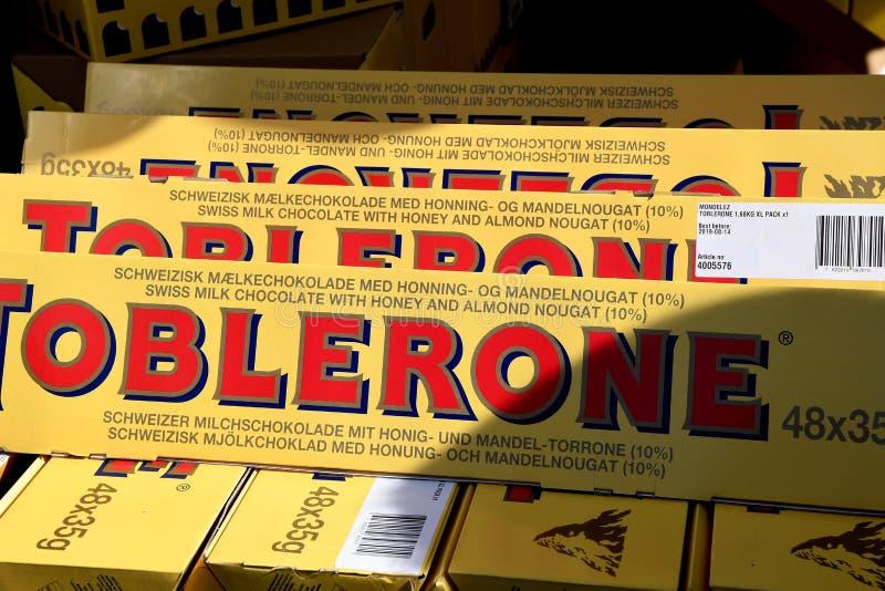 TORERONE CHCOLATE BARS. Copenhagen/Denmark 8th.September 2018. Toblerone choclate bars dansh capital Copenhagen, Denmark. Photo.Francis Joseph Dean / stock images