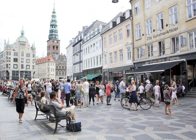 copenhagen Denmark zakupy ulicy stroget obrazy stock