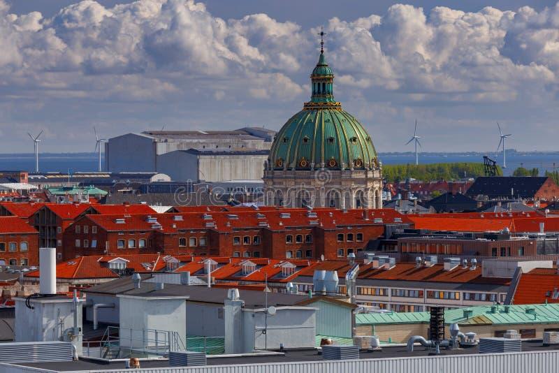copenhagen flyg- stadssikt fotografering för bildbyråer
