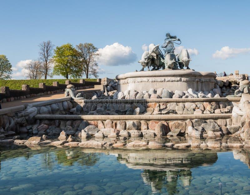 copenhagen fontanny gefion zdjęcie royalty free