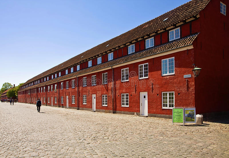 Copenhagen, Kastellet fortress, view of the Rows royalty free stock images