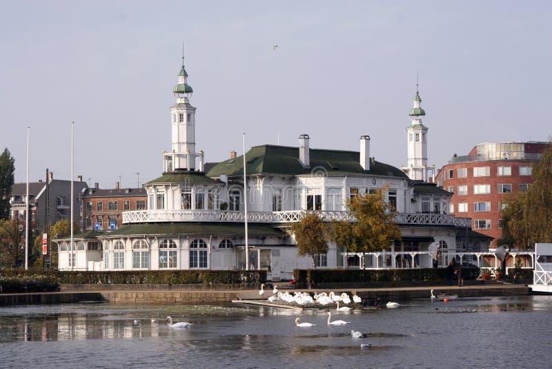 copenhagen lake royaltyfri foto