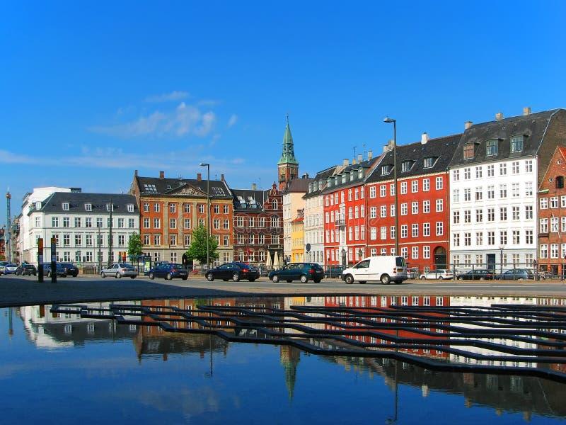 copenhagen miasteczko stary uliczny Denmark obraz stock