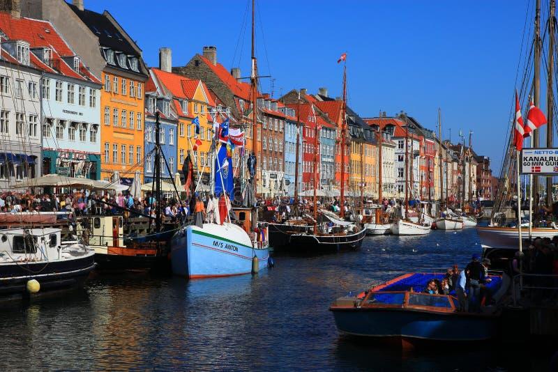 Download Copenhagen - Nyhavn editorial stock image. Image of club - 19544799