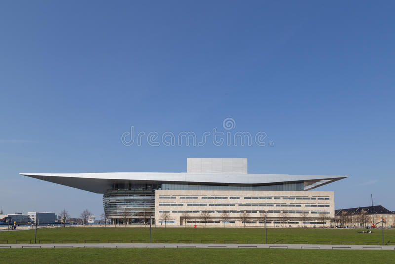 Copenhagen Opera House. Copenhagen, Denmark - May 02, 2016: The Opera House designed by Henning Larsen architects stock photography