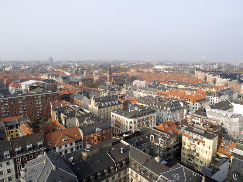 Copenhagen panorama stock photo