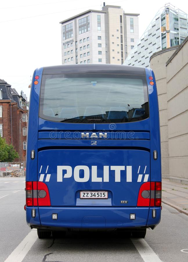 Download Copenhagen Police Coach editorial photo. Image of lettering - 19074956