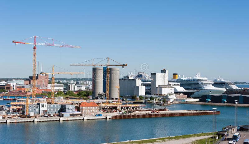 copenhagen port royaltyfria foton