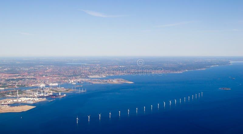 copenhagen top turbine view wind 免版税图库摄影