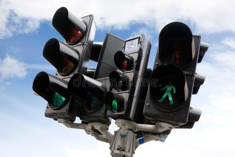 Copenhagen Traffic Light stock photography
