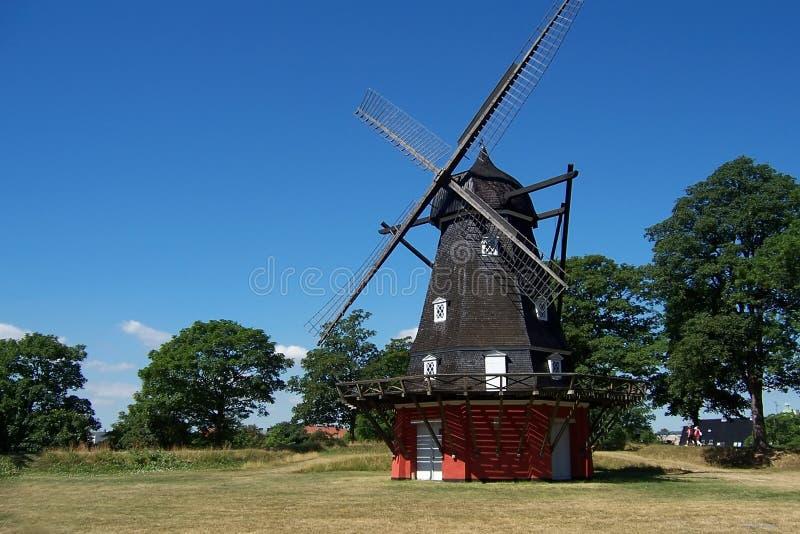 copenhagen windmill royaltyfria bilder