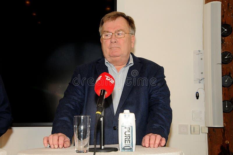 Copenhaghen/Danimarca 15 Novembre 2018 ministro _Danish per gli affari esteri Anders Samuelsen L e ministro per difesa Cluas immagine stock libera da diritti