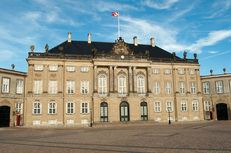 Copenhaghen, Danimarca - scanalatura di Amalienborg fotografie stock