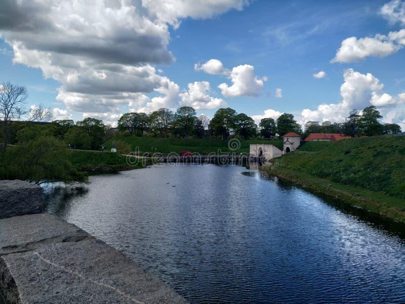 Copenhaghen ed i suoi parchi fotografia stock