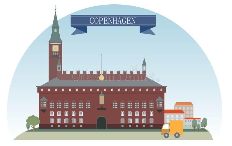 Copenhague illustration stock