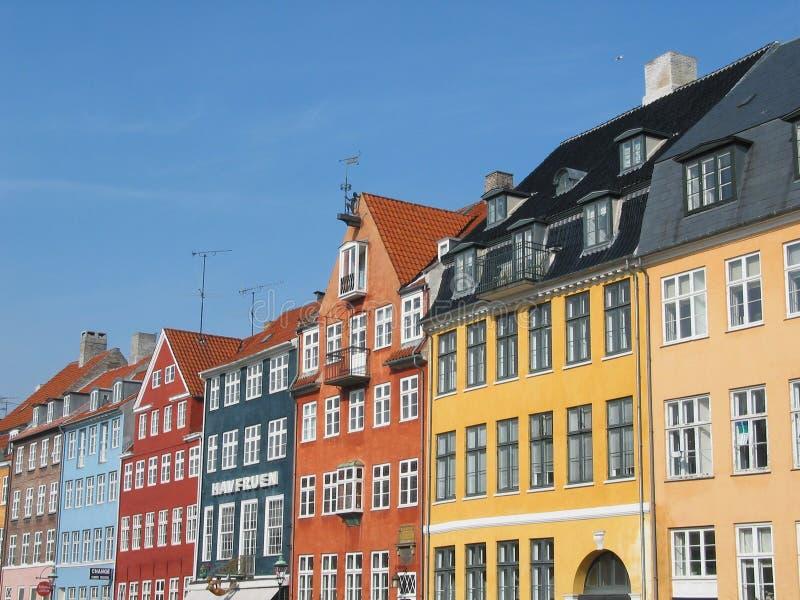 Download Copenhague photo stock. Image du ciel, maisons, hublots - 740076