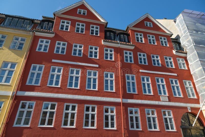 Copenhague, Danemark - 30 avril 2017 : Bâtiment rouge - ancienne maison photos stock