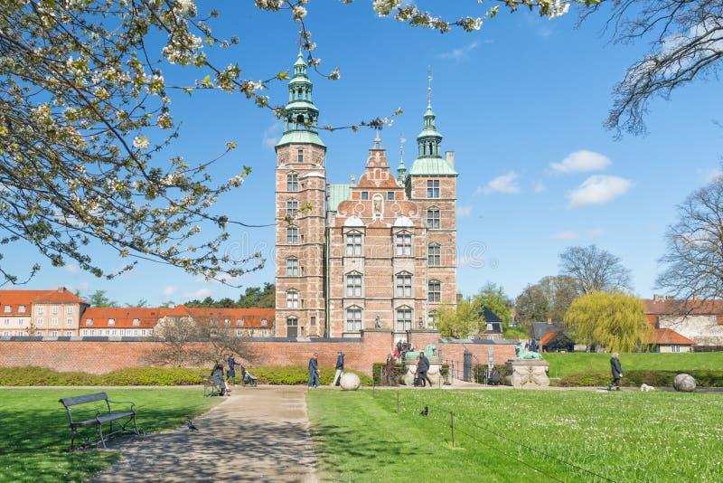 COPENHAGUE, DANEMARK - 30 AVRIL 2017 : Le palais de Rosenborg est rena image stock